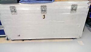X Large Heavy Duty Aluminium Road Case on Wheels - Hinged Lid