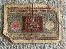 money finance, banknotes, Germany, 2 Mark, Reichsbank, Berlin, 1920
