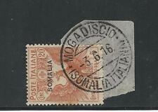 Somalia: Scott B3, 1916, used in paper, good cancelation, Mogadicio, ... SM03