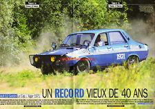 Article de presse : RENAULT 12 Gordini Le Cap / Alger 1971 ! 8 pages R12