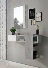 Mobile Contenitore Ingresso Specchio Moderno Cemento Bianco Opaco PLAY tomasucci