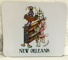 Dog Jazz Trio Mouse Pad, New Orleans artist Jamie Hayes, art collectible poodle