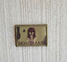 Morale Patch Special Ops SOG - Molon Labe Spartan Greek Helmet - MULTICAM