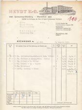 HASELÜNNE, Rechnung 1959, Heydt KG Spirituosen-Grosshandlung