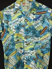 Hawaiian Aloha Shirt VTG Hilo Hattie Surf-N Paradise Rayon Youth Women's L H66