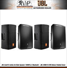 (2) JBL Eon615 Active DJ 1000W Amplified Speaker + (2) EON615-CVR Padded Cover