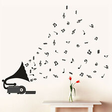 5765 | Wall Stickers Gramophone with Musical Notes