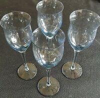 "ROYAL PIERPONT-BLUE by Noritake WINE GLASSES 8 5/8"" Tall Set of 4"