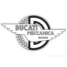 "DUCATI MECCANICA BOLONGA Size 5"" 3/4 x 7"" 3/4  Motorcycle decal sticker"