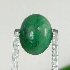 1.17 carat Oval Cabochon 8x6mm Natural Green Emerald Loose Gemstone - EmCb06