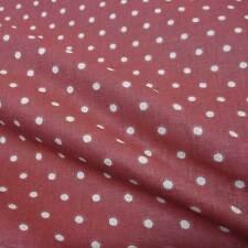 Stoff Meterware Punkte 4 mm bordeaux rot beige Baumwolle Petticoat gepunktet Neu