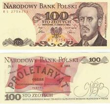 A   SAISIR      BILLET 100  ZLOTYS  POLOGNE  NEUF  1986       UNC       !!!!