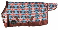 "Showman Foal/Mini 36""-40"" Orange & Turquoise Southwest Print Turnout Blanket"