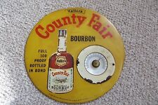 Old Haller's County Fair bourbon whiskey advertising thermomenter, bar sign