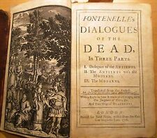 Fontonelle. Dialogues of the Dead. 1708. 1st  trans. John Hughes.Tonson printer