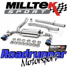 "Milltek Focus RS MK3 Cat Back Exhaust System Stainless 3"" Non Res Burnt Titanium"