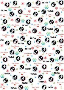 Personalised Tik Tok Christmas Wrapping Paper