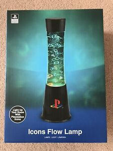 Official Playstation Lava Lamp Icons Flow Lamp Lighting Gamer - NEW
