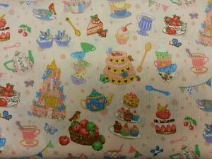 PARTY TIME PINK FABRIC COTTON METRE CUSHIONS PATCHWORK BIRTHDAY  GIFT PRESENT