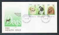 New Zealand 1982 Dogs, Health Stamps FDC First Day Cover #C12991