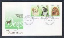 Nouvelle-Zélande 1982 Chiens, santé timbres FDC FIRST DAY COVER #C12991