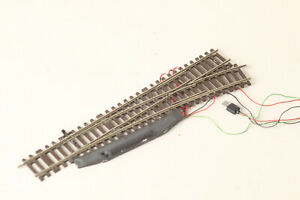 Roco H0 Lean Right Track Switch Electric Drive Track Braun (200153 67)