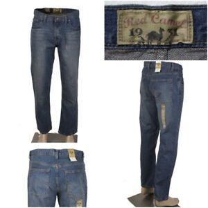 NWT RED CAMEL Men's 32 x 30 Original Straight Leg Delray Wash Denim Jeans NEW