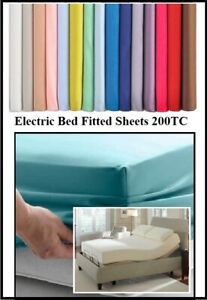 """ELECTRIC BED (54"""" X 78"""") DOUBLE FITTED SHEET 4'6"""" x 6'6""""  20 COLOURS 260TC"""