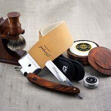 Barber Estilo Vintage Afeitado Set Garganta Corte recto maquinilla de afeitar/y Plata Punta Pincel