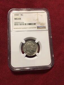 1937 5c buffalo nickel ms 65 ngc