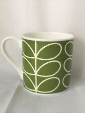 Orla Kiely Fine Bine China Mug Stem Design Lime Green New Made In UK