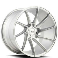"(4) 19"" Savini Wheels BM15 Silver Brushed Silver Rims (B13)"