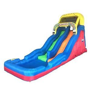 Banzai Double Drop Raceway 2 Lane Inflatable Kids Outdoor Bounce Water Slide