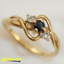 Sapphire 10k Multi-Tone Gold Fine Rings