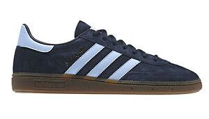 adidas Originals Handball Spezial Trainers - Navy/Sky - BD7633 - Size UK 7-12