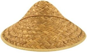 FANCY DRESS MENS CHINESE COOLIE STRAW HAT