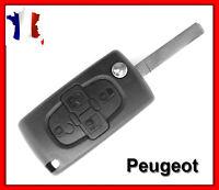 Coque Clé Plip Pour Peugeot 4 Boutons 807 1007 CE0523 + Lame Sans Rainure