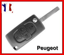 Coque Clé Plip Boitier Peugeot 4 Boutons 807 1007 CE0523 + Lame Sans Rainure