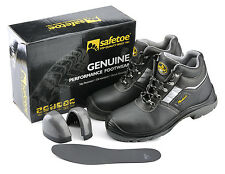 Safetoe Safety Boots Steel Toe Anti-abrasion Breathable Cow Leather US Size7New