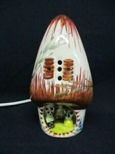 Derek Fowler Night Light, Nursery Lamp, Mouse Family Small Mushroom Shape, 70s
