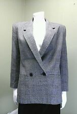 Sasson Women's Black & Gray Hounds Tooth Jacket~Size 4