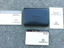 2001 LEXUS GS 430 GS 300 OWNERS MANUAL GUIDE BOOK SET WITH CASE OEM