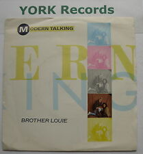 """MODERN TALKING - Brother Louie - Excellent Condition 7"""" Single RCA PB 40875"""