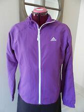 Veste Adidas zippée violet et blanc ML - T. 42 (FR) - T. 40 (DE)