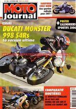 MOTO JOURNAL 1700 DUCATI MONSTER 998 S4Rs Testastretta HONDA CBF KAWASAKI ER-6