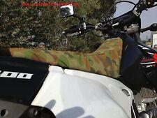 Suzuki DRZ 250 Motorbike camo canvas seat cover