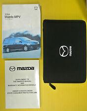 MPV M P V Minivan 04 2004 Mazda Owners Owner's Manual Set w/ Case All Models
