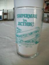 Superman in Action 1964 Polanar Jelly Jar glass- aqua/pink