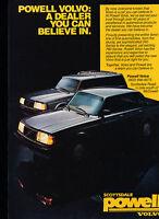 1986 Scottsdale Powell Volvo 240 - Dealer - Classic Vintage Advertisement Ad D59