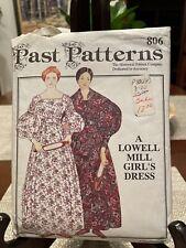 Past Patterns A Lowell Mill Girl's Dress Pattern Costume Reenactment